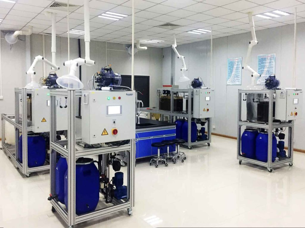 several test systems in a laboratory from the technical center in China