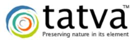 Tatva logo with a colorful circle