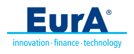 Logo EurA in blue on a transparent background
