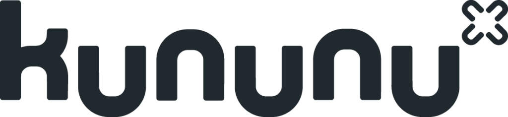 Logo kununu in black on a transparent background