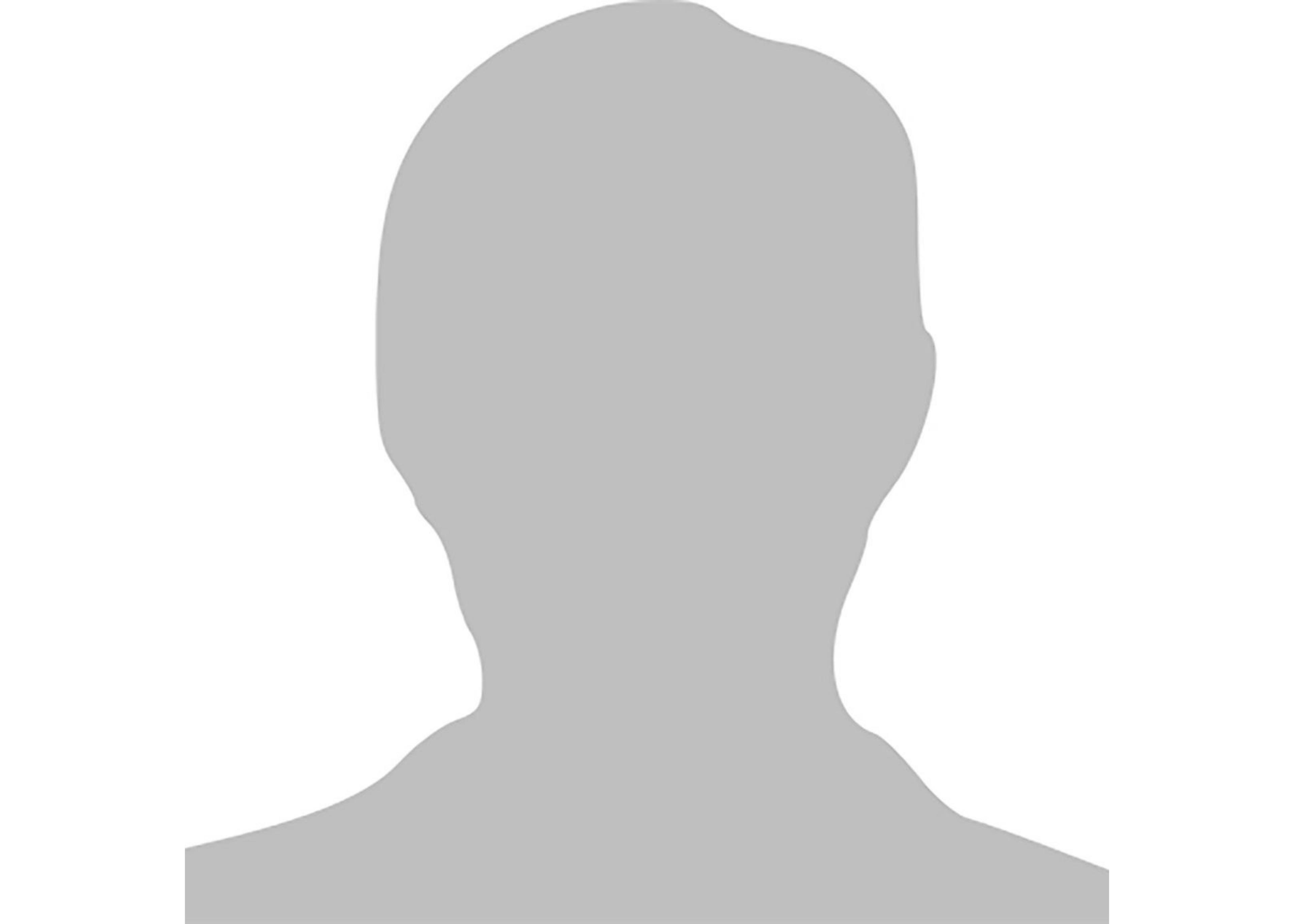 ein grauer Schatten von einem Kopf einer Person auf einem weißen Hintergrund