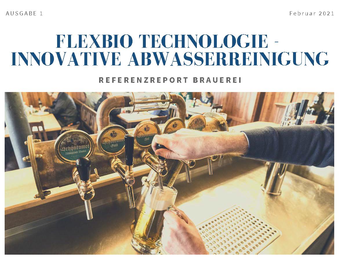 Die Februar Ausgabe des Referenzreport der FlexBio Technologie GmbH für Brauereien