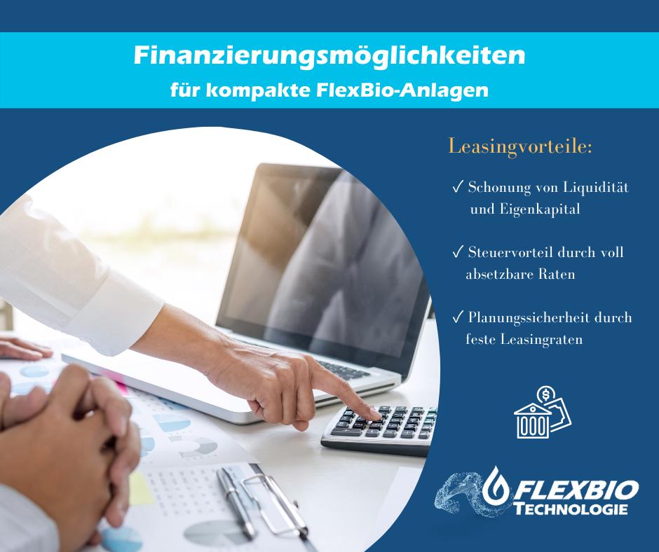 Finanzierungsmöglichkeiten für kompakte FlexBio-Anlagen
